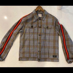 Scotch & Soda plaid trucker jacket